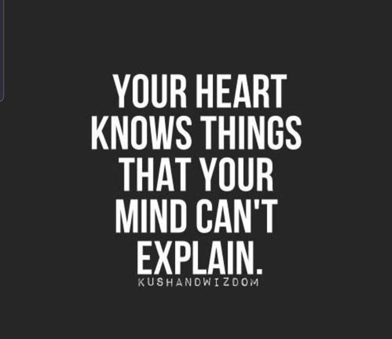 Je hart weet het